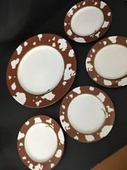 4349 かわいい ケーキ皿セット 大皿小皿