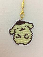 デリカビーズ☆ストラップ☆ハンドメイド☆黄色×茶☆