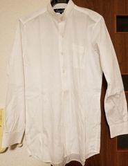 CAVARIA スタンドカラーシャツ ホワイト