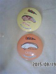 サンリオ・KIRIMIちゃん・キャラクター柄缶バッジ2個セット