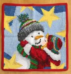 フェイラー☆ハンカチタオル クリスマス限定 雪だるま レッド