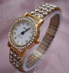ストレッチラインストーン腕時計GO−リストウォッチ