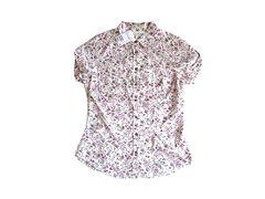 新品 エイチアンドエム H&M 花柄 半袖 シャツ ブラウス