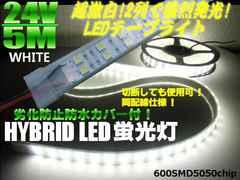 24V船舶漁船向き5M巻カバー付LEDテープライト蛍光灯航海灯集魚灯