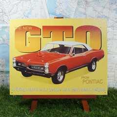 新品【ブリキ看板】Pontiac GTO/ポンティアック・GTO 1967年式