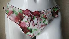 ☆エメフィール☆T☆Mサイズ新品タグ付き☆ホワイト×レッド系薔薇柄☆定価700円