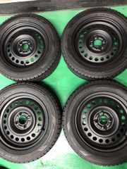0082368)激安ツヤ消ブラックスチ-ルホイ-ルスタッドレスタイヤセット185/60R15送料無料