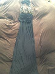新品  胸元キラキラ  ロングドレス