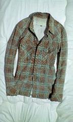 イサムカタヤマバックラッシュ チェック加工スエードレザーシャツ3