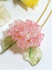 *紫陽花*pink・ボールチェーン