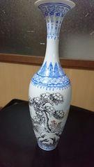 景徳鎮製→吹んさい色絵紋様花瓶
