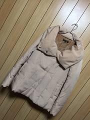 1.4万新品タグ付きrienda★内ボア・袖リブ付き中綿コート
