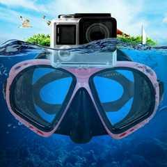 ピンク ゴーグル シュノーケル ダイビング カメラセット可能
