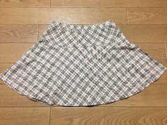 美品 110 夏物 バーバリースカート