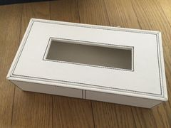 革製 ティッシュケース ホワイト おしゃれ インテリア用品
