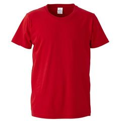 4.7オンス ファインジャージー Tシャツ レッド XLサイズ