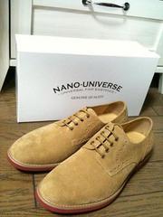 新品箱付 NANO UNIVERSE  リアルスエードブーツ ナノ