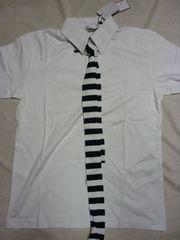 未使用!ネクタイ付ポロシャツ白 アメカジF&EマッコイNハリ