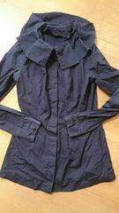 アリスアウアアピエロ襟ブラウスalice auaaゴシックゴス長袖紺色