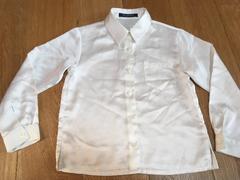 値下げ!シンプル!白いシャツ 120 入学式 入園式 冠婚葬祭にも
