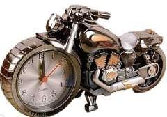 バイク ハーレー風 目覚まし時計(ブラック)