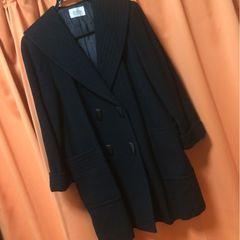 新品◆ウールコート◆大きいサイズ◆ブラック◆百貨店購入品
