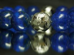 開運数珠!銀彫皇帝龍ドラゴンアゲート×ラピスラズリブレスレット