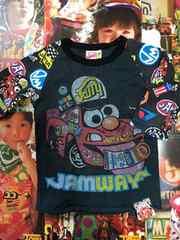 美品 JAM ジャム7部Tシャツ 120 黒