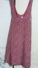 ピンクハウス ジャンパースカート 赤 柄