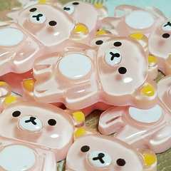 109 E ☆ 10コ ☆ ピンク リラックマ ☆ 約 2.3 cm ☆ デコパ