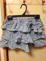 水玉柄デニムスカート☆