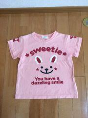 ☆3can4on☆半袖Tシャツ☆ピンク☆100�p☆