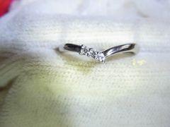 4℃のK18WG・ダイヤモンドリングです^^