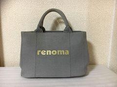 10スタ★中古★レノマ:キャンバス・ロゴトートバック