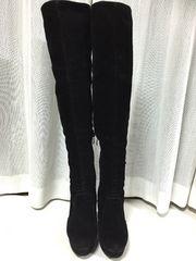 黒 ロングブーツ サイズS