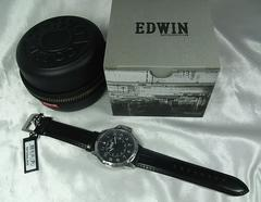 本物確実新品エドウィン ESCAPE 腕時計 ブラック文字盤