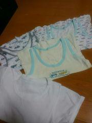 ☆美品☆ランニングシャツ3枚+半袖1枚の4枚セット☆110120