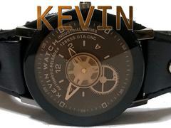 【新品/未使用】1スタ★KEVIN WATCH 歯車が可愛い 男女OK腕時計