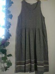 *Sunvalley*  裾刺繍 リネン*コットン ノースリOp
