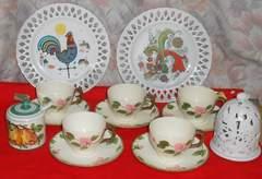西洋風ハンドペイントカップセット&欧州飾り皿他です。