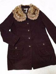 ★SALE★ axes femme*ティペット付き刺繍コート