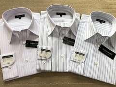 長袖ワイシャツ新品 ストライプ(3)3枚セット Mサイズ