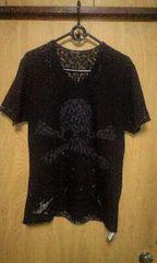 ROENロエン レオパードスカルデストロイTシャツ 46