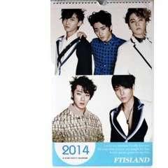 FTISLAND 2014年 壁掛けカレンダー ポスター+オマケ付