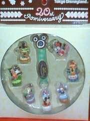 ☆TDL20周年☆ストラップ8点セット☆専用缶ケース付☆ミッキー☆ディズニー☆