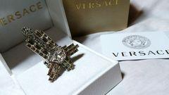 正規美 限定 VERSACEヴェルサーチ ビジュークリスタルクロスリング 11号 指輪