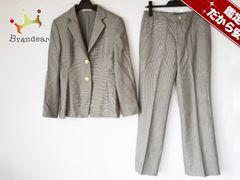 アクアスキュータム レディースパンツスーツ レディース 黒×白
