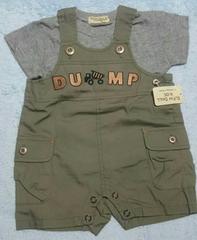 新品タグ付☆半袖Tシャツ&サロペット2点セット