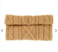 マーキュリーデュオ 定価8964円 ケーブル編み折り返しバッグ