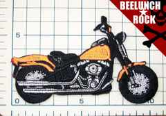 \250ワッペン:バイクオートバイオレンジ